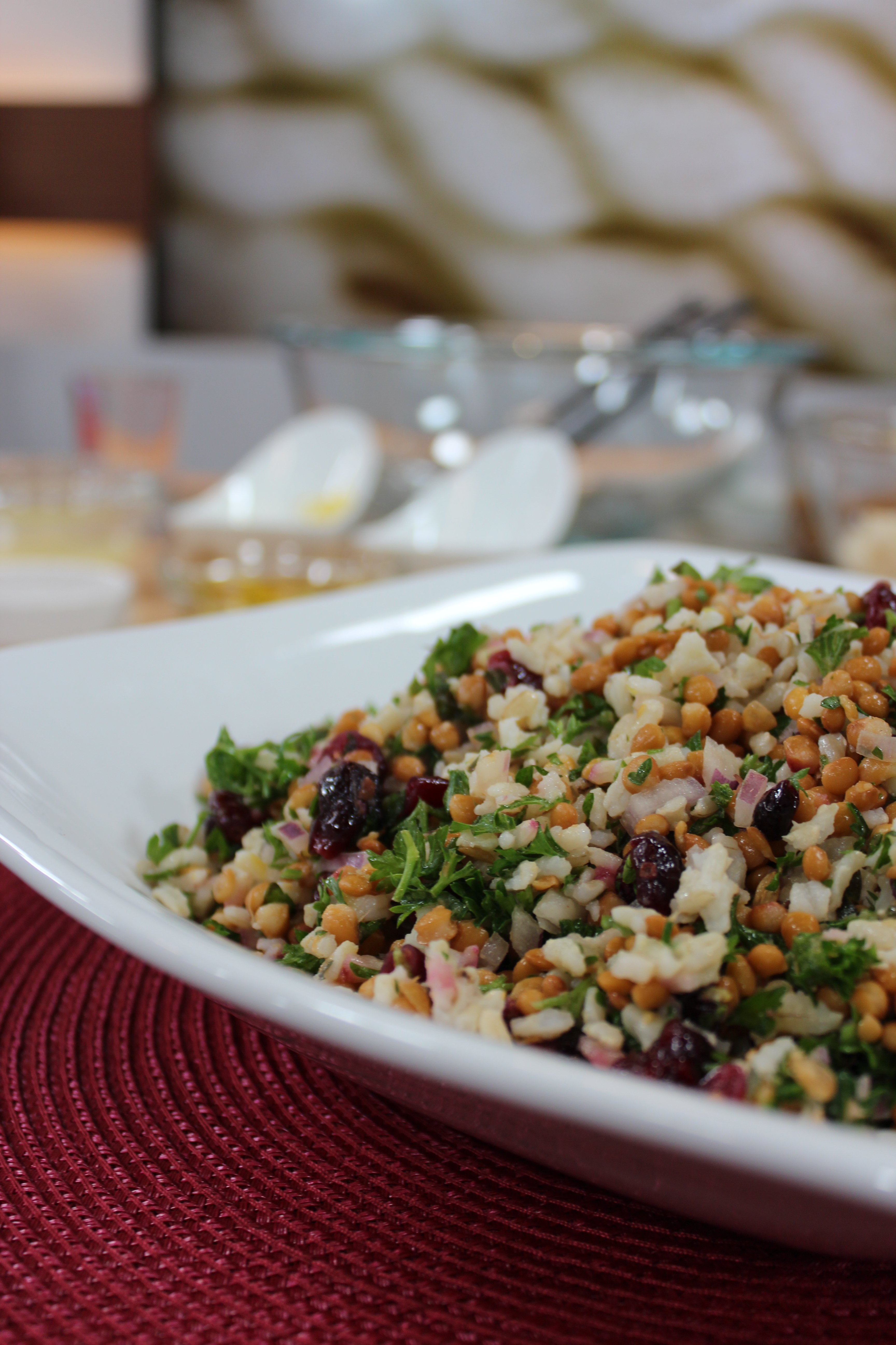 recipe: awesome lentil and rice salad