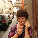 Me eating gelato in Florence! Yes, we ate a lot of gelato!