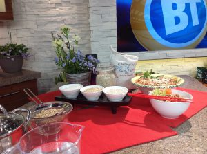 Three types of barley plus the two recipes I demmed on Breakfast TV in Toronto