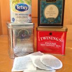 Just a small sample of my tea stash, both loose tea (in the tin tea caddies) and tea bags.