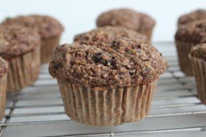 A yummy kid friendly muffin that is whole grain and good for you, somebody pinch me.  Picture by Mairlyn Smith
