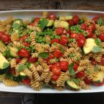 Pasta with Grape Tomatoes and Seasonal Green Vegetables
