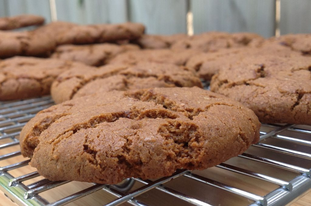 Gingersnaps right out of the oven. picture by Mairlyn smith