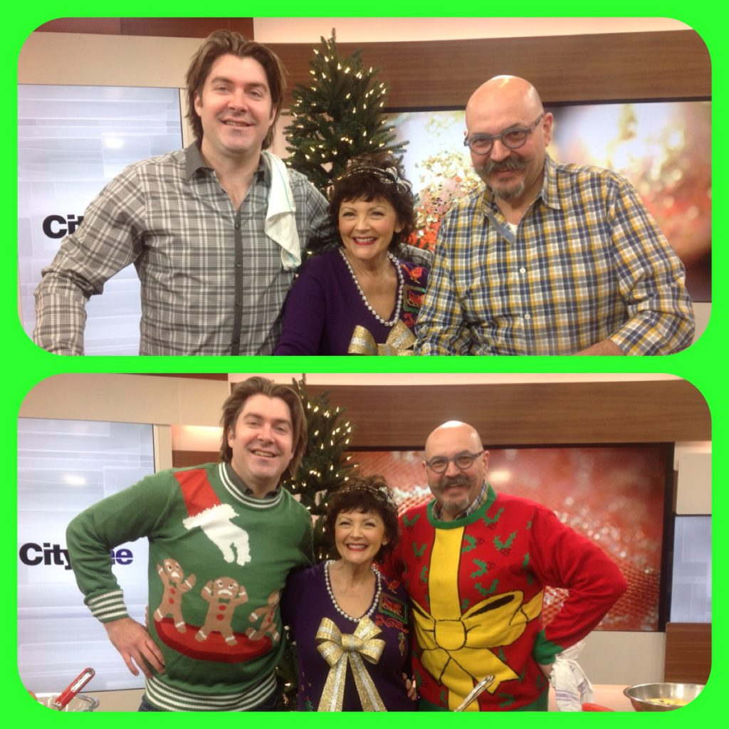 Before and after the Christmas sweaters! okay, I wore mine the whole day!
