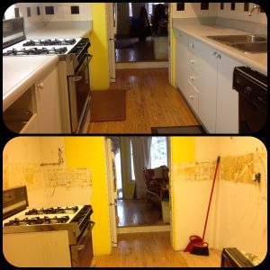 One day its a kitchen - the next, not so much...