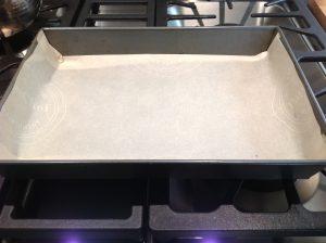 line the pan