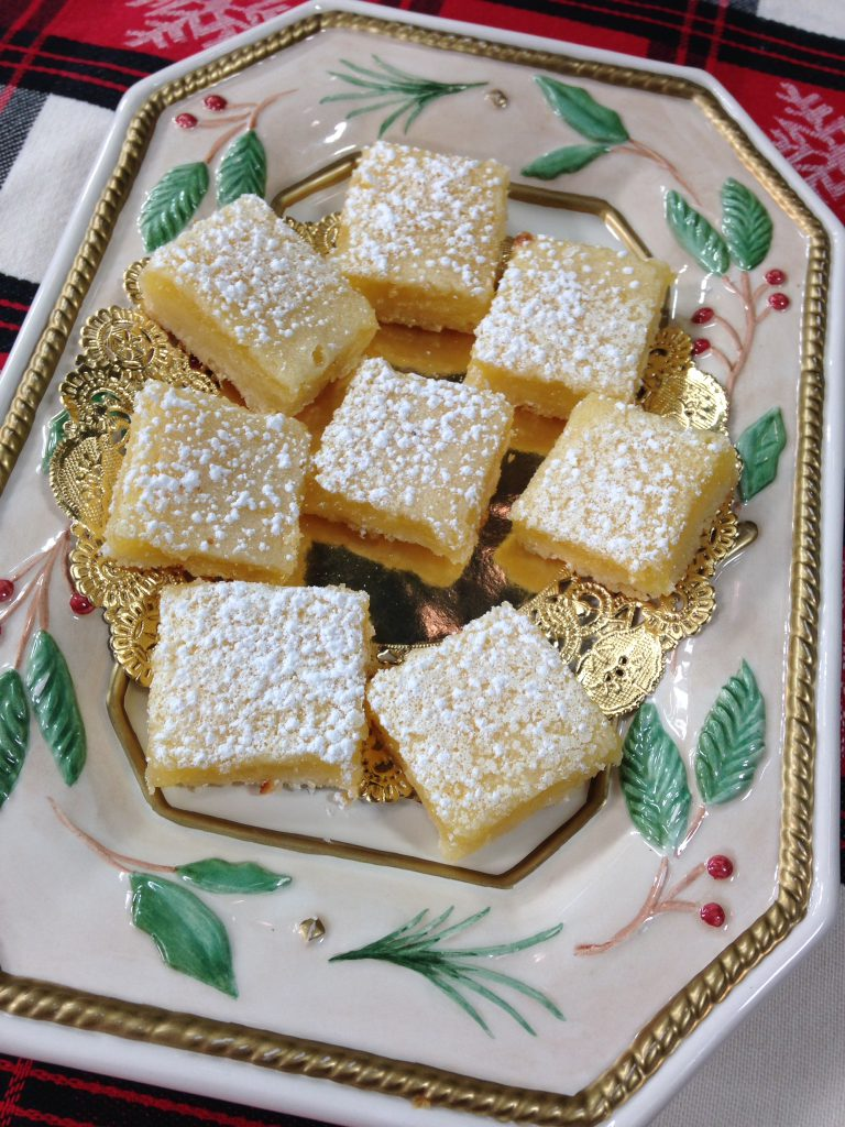 Lemon Squares, sweet and tart and lemony!