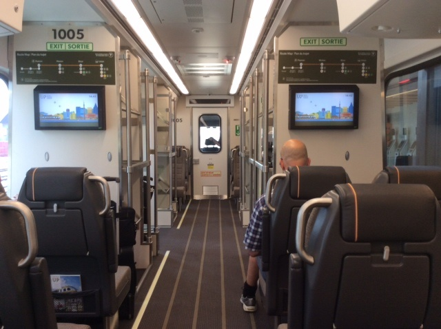 Inside the train and free WiFi