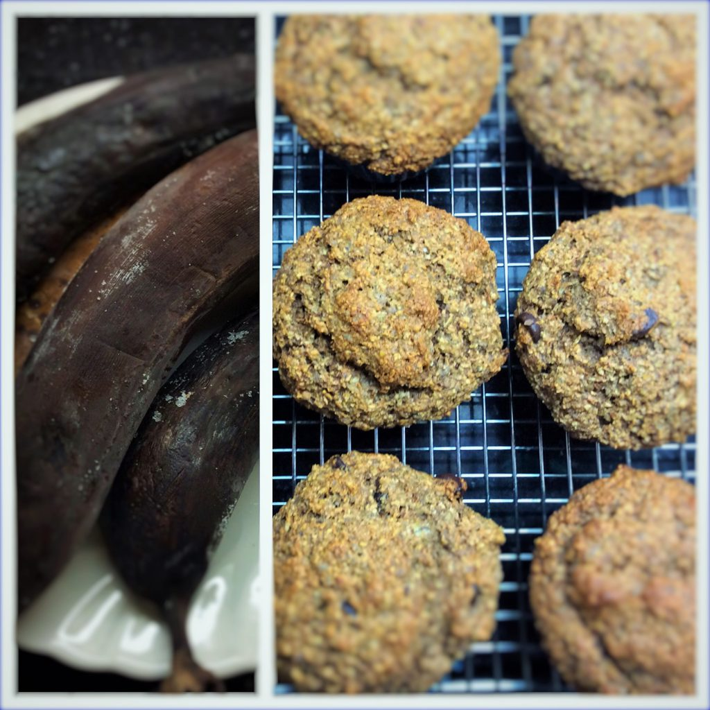 Banana Muffins with a hit of fibre