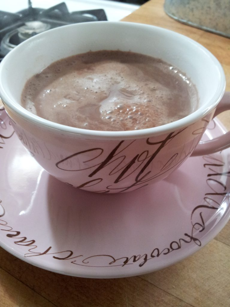 A cup of heart healthy cocoa that tastes too good to be good for you!