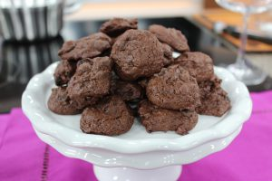 brownie cookies sitting on a plate
