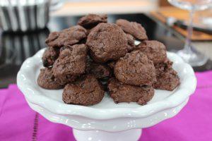 brownie cookies sitting on a plate