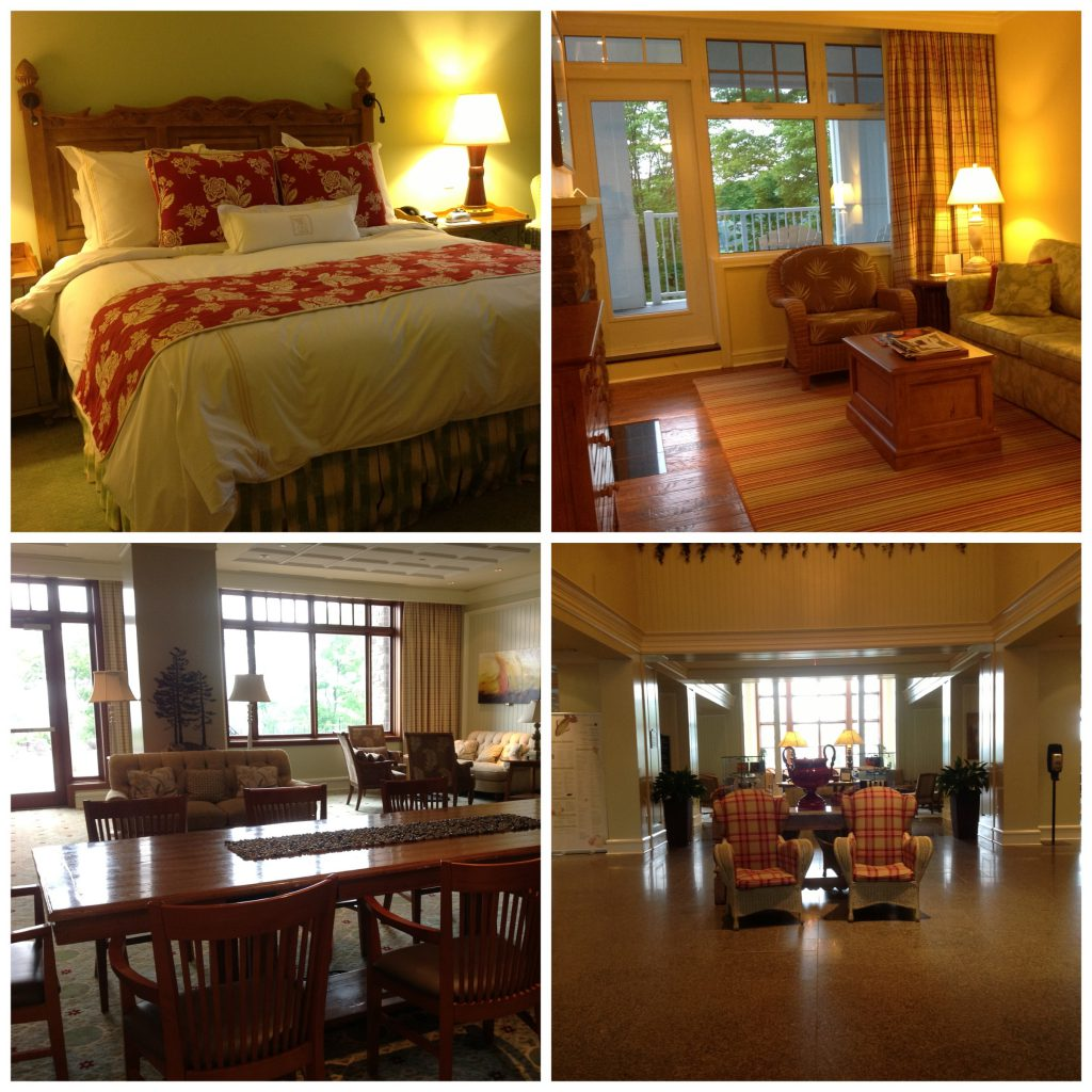 The room was gorgeous at The Rosseau Muskoka Resort and Spa