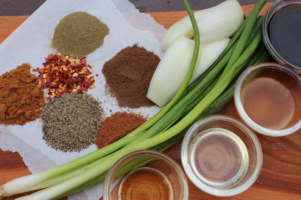 All the ingredients needed for a flavourful Jerk..marinade