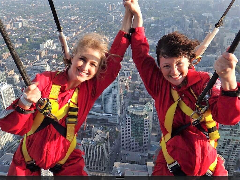 Jennifer Valentyne and me on the CN Tower Edge Walk