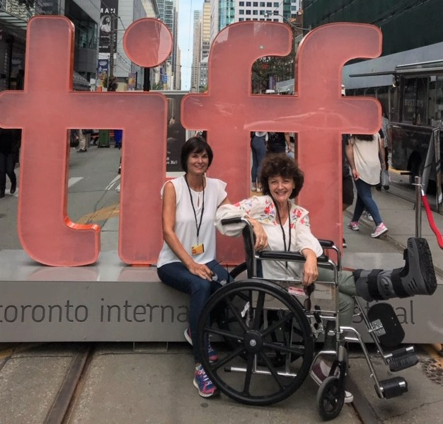 Mairlyn amd her friend at TIFF Mairlyn is in a wheelchair