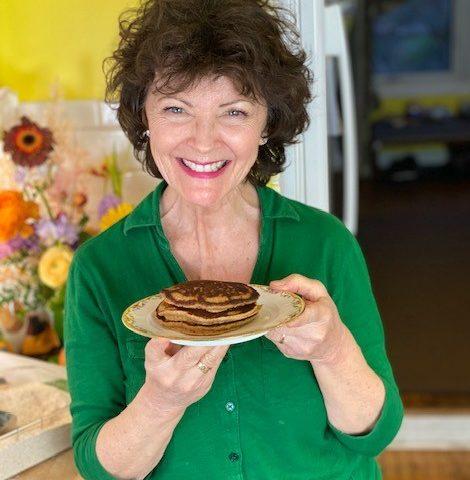 High fibre whole grain pancakes
