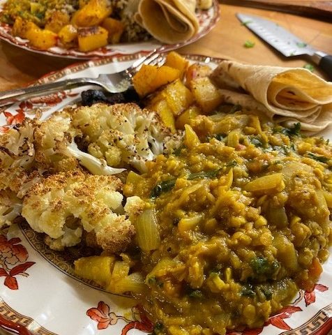 One of my favourite easy and economical dinners, a lentil dahl